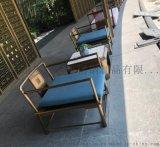 樓盤不鏽鋼沙發椅定做 高檔不鏽鋼沙發組合定做