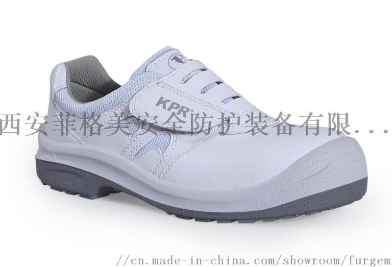 尊王牌白色防靜電勞保鞋達JSD效果
