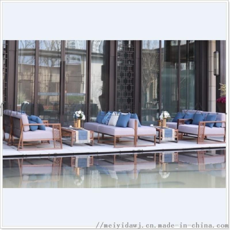 不鏽鋼茶餐廳沙發 不鏽鋼組合沙發專業加工高檔戶外