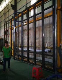 阳台铝合金折叠门金房顶门窗钛镁铝合金折叠门