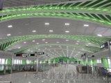 海洋产业园绿色铝方通 弧形波浪铝方通吊顶