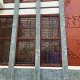 贵阳仿古古色铝花格窗 门头隔断仿木纹铝花格尺寸