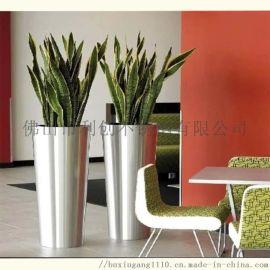 金属花盆容器不锈钢艺术花瓶文化**装饰花瓶