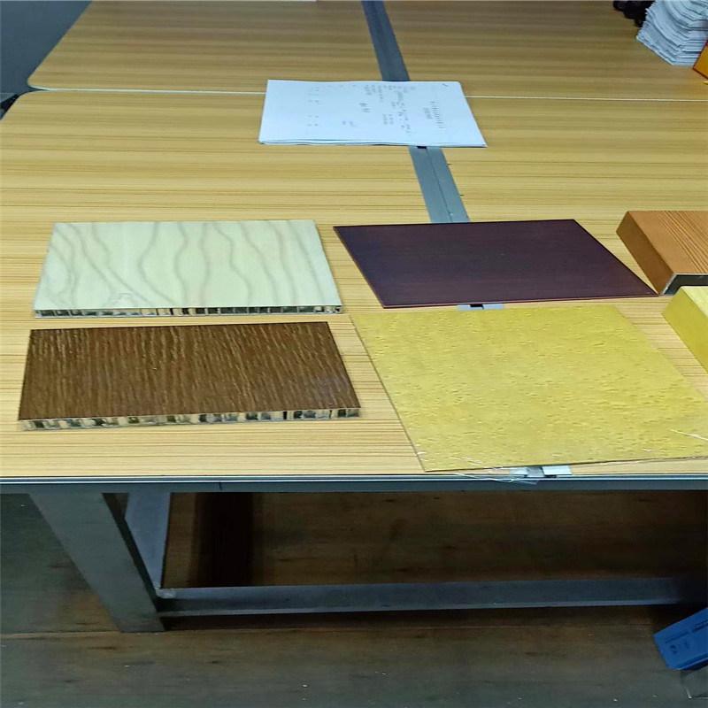 亚光白铝蜂窝板 大理石木纹铝蜂窝板