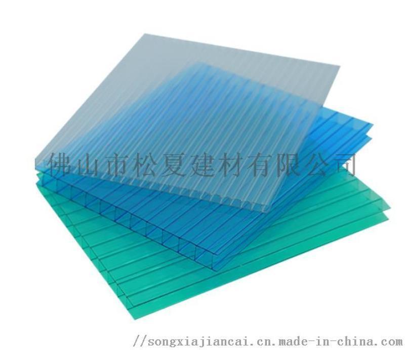 pc耐力板雨棚__PC阳光板温室大棚__松夏建材