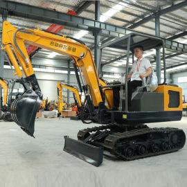 山东岳工小型挖掘机厂家 挖树坑用小钩机 性能