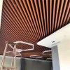 办公大楼吊顶铝方管 隔断仿木纹铝方管艺术造型