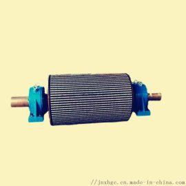 皮带机双驱传动滚筒通用 800铸胶传动滚筒煤安齐全