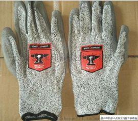 灰色尼龙手套标闪烫热转印来图定制