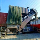 湖南码头集装箱拆箱机 散灰卸车机 环保翻箱卸灰机