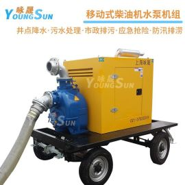 6寸柴油防汛排涝自吸泵 农田灌溉排污泵