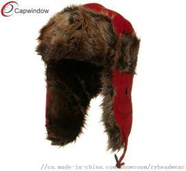 雷锋帽男士冬季加厚保暖户外护耳真皮帽子