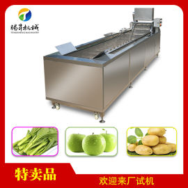 芥菜清洗机 果蔬清洗设备 商用自动洗菜机