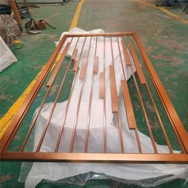 2021年新款铝屏风隔断 仿古木纹铝屏风背景墙隔断