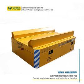 电动平车搬运纸卷钢柱轨道地轨车 地面小车车间运载车