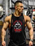 背心健美服装健身房小圆领运动训练深挖肌肉棉背心