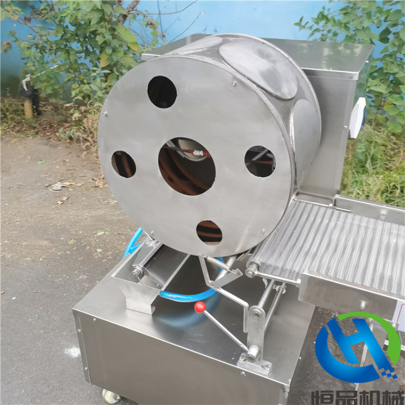 做烤鸭用的卷饼设备是恒品牌150型烤鸭饼机