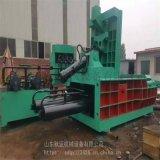 垃圾站廢紙廠大型臥式半自動液壓塊機