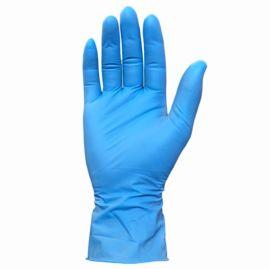 蓝色丁腈手套无粉医用手套一次性手套