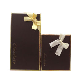 18格巧克力盒 情人节礼品盒 蝴蝶结**烫金糖果盒