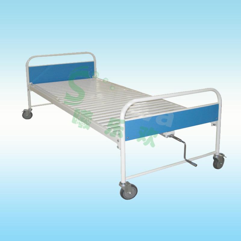 医用单摇护理床,医用手动病床, 钢制单摇床