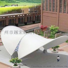 广东膜结构雨棚遮阳蓬,越宏膜结构免费提供设计