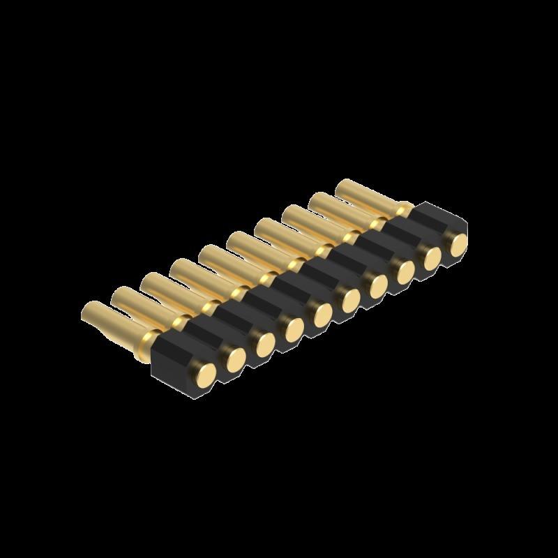 2.0MM H2.5 焊线单排 平面接触