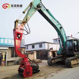 挖机配套液压振动锤 钢管护筒桩机使用