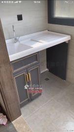 铝家居浴室洗衣柜全铝洗衣池阳台柜铝合金型材