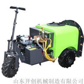 新型手拉式汽油喷雾器 400L高压喷雾机四轮打药机