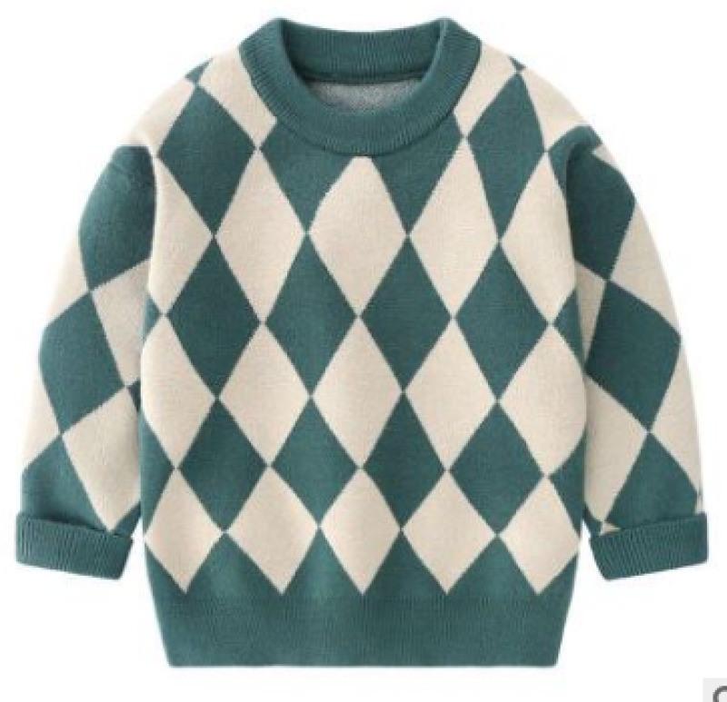 男童毛衣安哥拉兔絨格子打底衫童裝毛衣廠家直銷批發