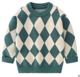 男童毛衣安哥拉兔绒格子打底衫童装毛衣厂家直销批发