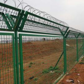飞行区机场钢筋网围栏 Y型柱机场围界隔离栅