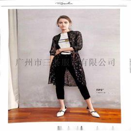 固苏经典韩版风衣女装尾货女装折扣货源大码折扣直播