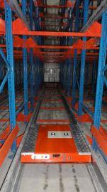 穿梭式货架定做仓库半自动穿梭车货架工厂直销