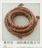 制绳机打绳机  无纺布条滕条分体式捻绳机制绳机