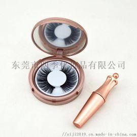 磁性眼线液管+假睫毛盒包材套装 玫瑰金色