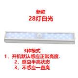 新款28led櫥櫃燈人體感應燈樓梯燈衣櫃燈