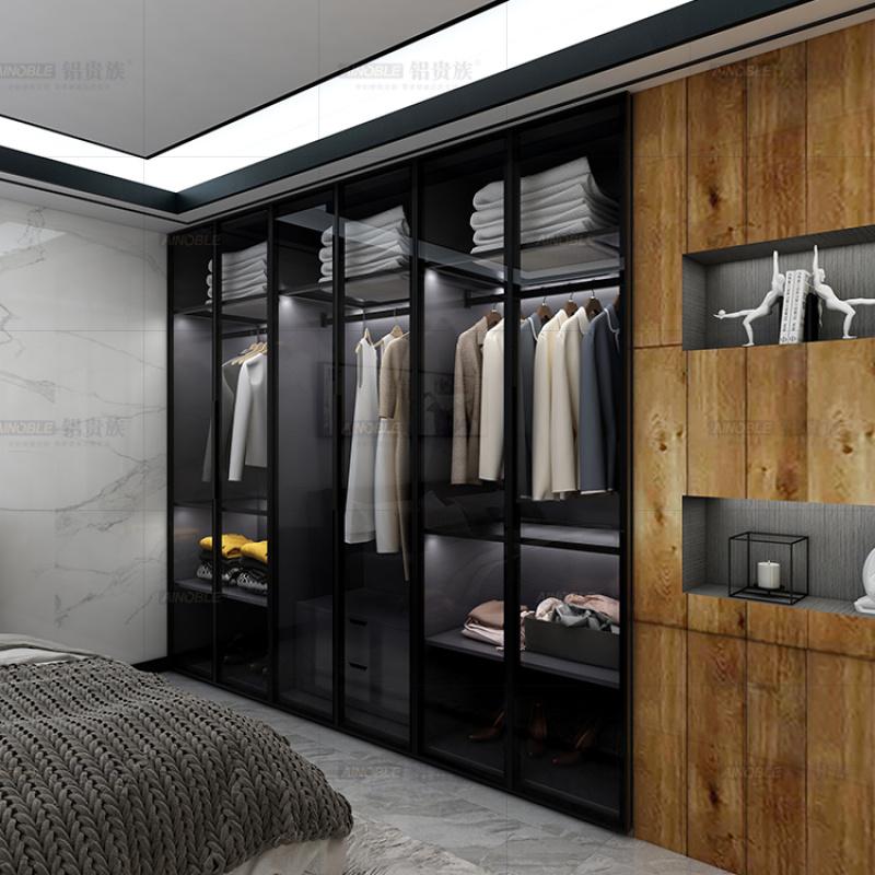 全铝衣柜定制铝合金衣柜全铝衣橱衣帽间