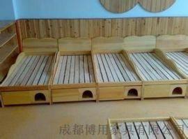 定制成都儿童实木重叠床 成都幼儿园重叠床厂家