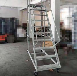 武汉欧胜诺2.5米登高车仓库移动平台登高梯取货梯 五金工具梯