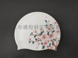 浙江不掉色耐拉伸硅胶泳帽 硅胶免涂层打印机