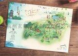 杭州景区手绘地图游乐场手绘导览图设计制作