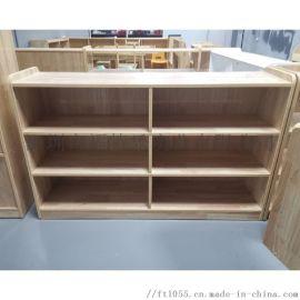 早教中心橡木玩具柜 幼儿园实木玩具柜