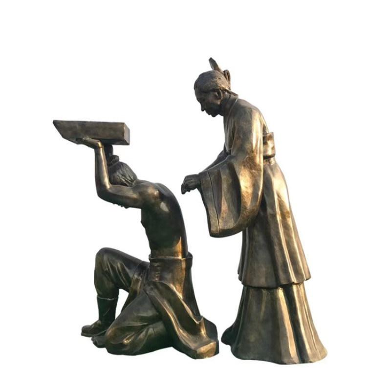 公园古代人物雕塑 户外历史人物雕塑