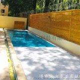 電動防塵泳池安全蓋企業廠家  自動泳池蓋板  浮條收卷泳池智慧蓋板