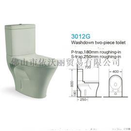 家用成人节水陶瓷虹吸式座便器彩色马桶