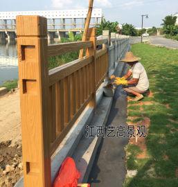 水泥仿木栏杆喷漆上色制作,仿木护栏刷漆工艺要点