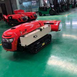 35  履带式拖拉机 开沟施肥机 小型自走式开沟机
