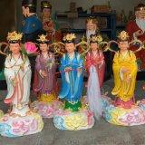盤龍姑奶奶神像 九龍聖母雕塑 龍母娘娘神像